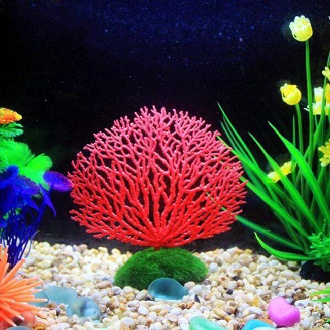 Флуоресцентная имитация коралла для аквариума - 5 цветов 1