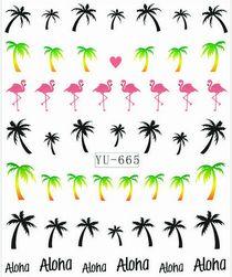 Stickere cu model de vara pentru unghii