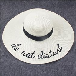 Dámský klobouk s nápisem - 5 variant