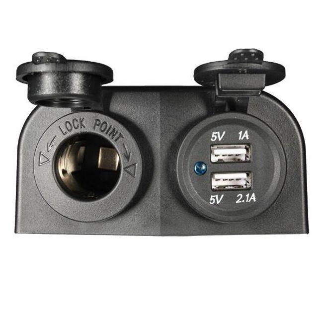12/24 V utičnica i 2 x USB utičnica 1