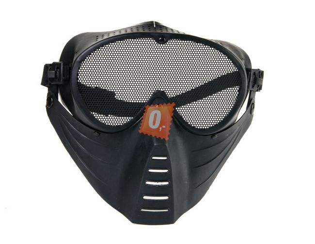 Maska na airsoft ze síťoviny - černá 1