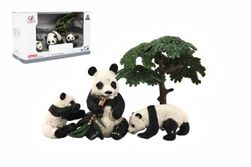 Zvieratká safari ZOO 10cm sada plast 4ks panda 2 druhy v krabičke 22x13x9,5cm RM_00311461