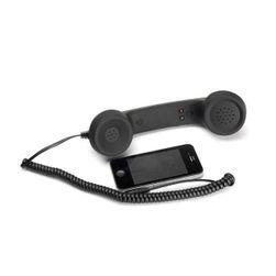 Retro slušalica za mobilni telefon Crna