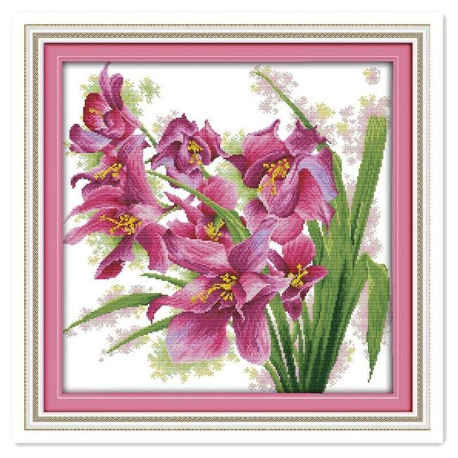 Obraz k vyšívání - orchidej 1