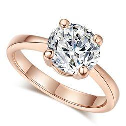 Ženski prsten sa velikim kamenčićem - 2 boje