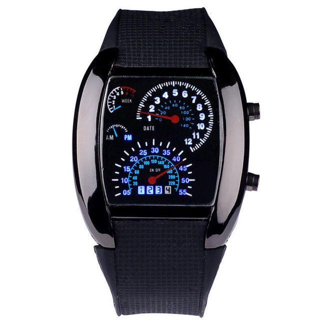 Pánské LED hodinky ve tvaru palubní desky - 2 barvy 1