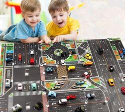 Dziecięca mata do zabawy Traffic