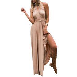 Длинное платье-трансформер- 15 цветов