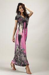 Boemska haljinasa motivom leoparda - mix boja