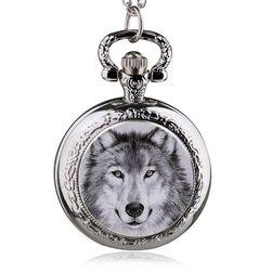 Zegarek kieszonkowy z motywem wilka - 8 wariantów