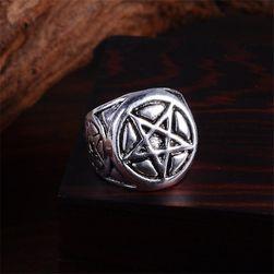 Pánský prsten s pentagramem