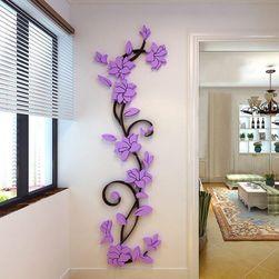 3D стикер на стены с цветочным мотивом