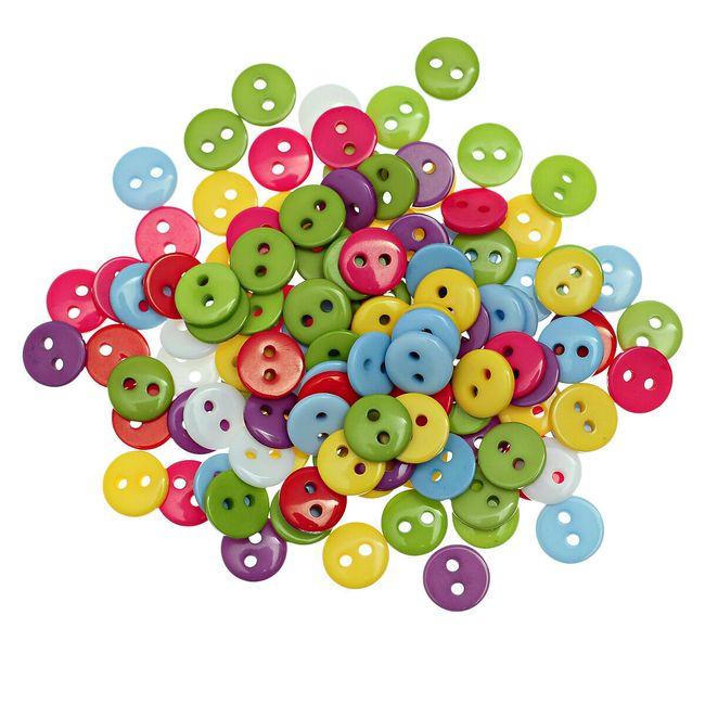 9 mm çapında plastik renkli düğmeler 1