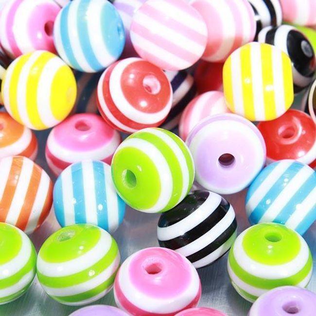 Mărgele colorate - 100 buc. 1