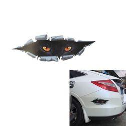 3D araba çıkartması - kedi gözleri