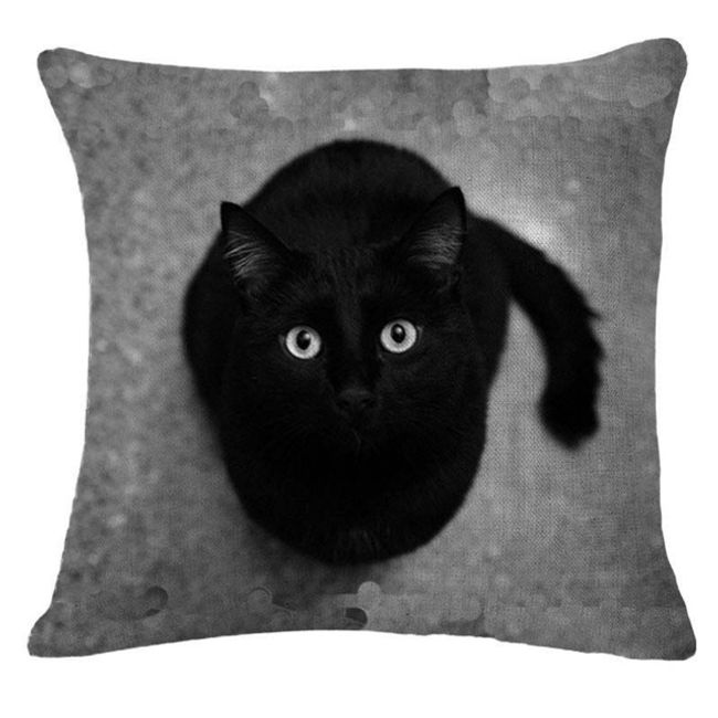 Povlak na polštář s motivy kočiček - 15 variant 1