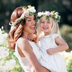 Hajpánt, virágokkal a nők és a lányok méretében - 2 változat