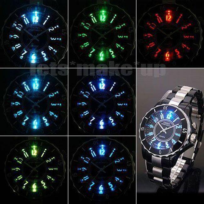 Sportovní LED hodinky - 7 barev podsvícení 1