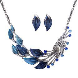 Sada šperkov s pávími perami