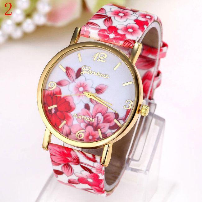 Ceas de damă cu motive florale 1