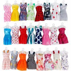 Zestaw sukienek dla lalek - 12 sztuk