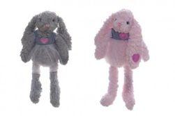 Králik / králiček sa sukienkou plyš 45cm 2 farby v sáčku 0+ RM_56800077