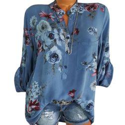 Damska bluzka w kwiaty - różne kolory