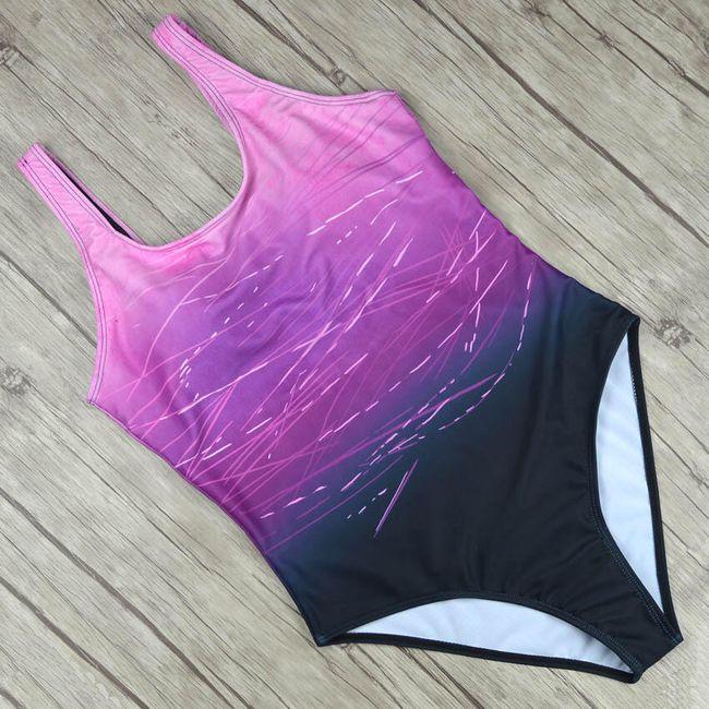 Ombre egyrészes fürdőruha-3 szín