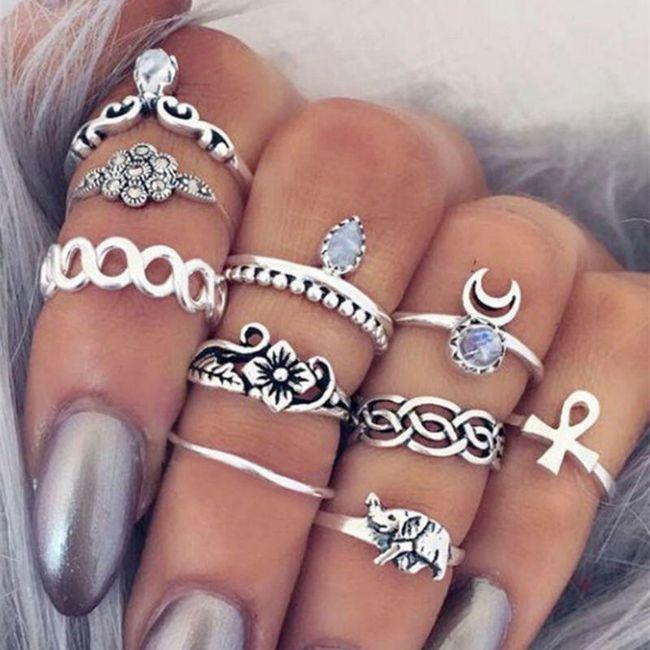 Sada prstýnků - 10 kusů 1