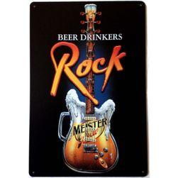 Afis metalic pentru iubitorii de bere