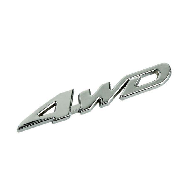 Kovinska nalepka za avto - 4WD 1