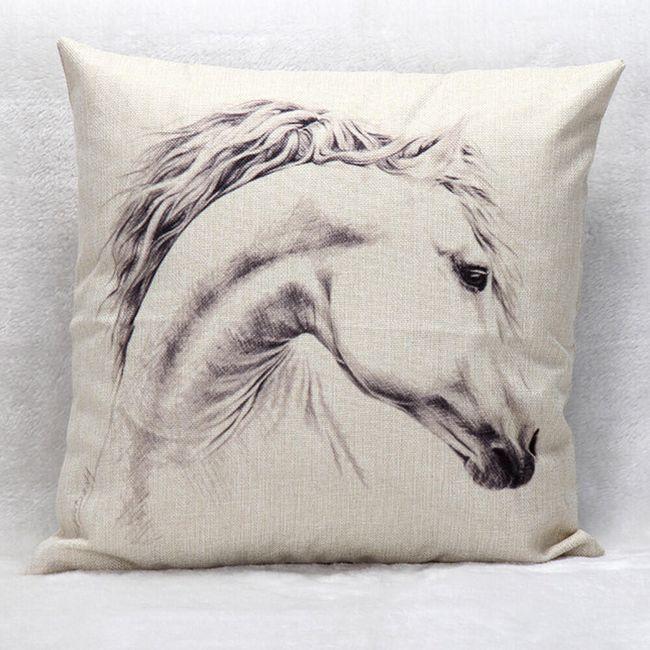 Povlak na polštář s koněm - 45 x 45 cm 1
