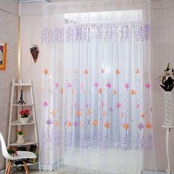 Zavesa sa rascvetalim cvetovima - 2 boje