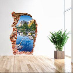 3D samolepka na zeď - Horská řeka