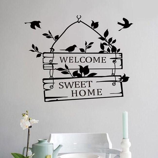 Hoşgeldiniz yazısı ile duvar çıkartması 1