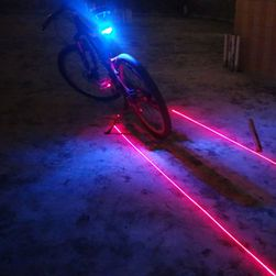Tylna latarka rowerowa LED z laserem