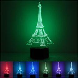 Asztalt érintő LED-es lámpa az Eiffel-torony alakjában