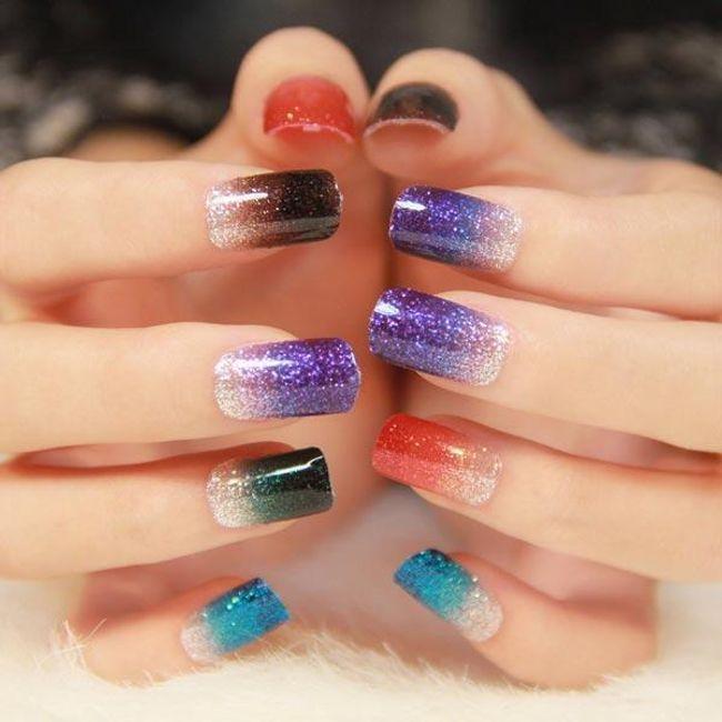 Nalepnice za nokte sa šljokicama - 12 dizajna 1