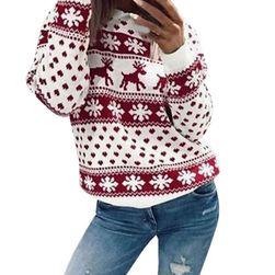 Dámský pletený svetřík se soby - 2 varianty