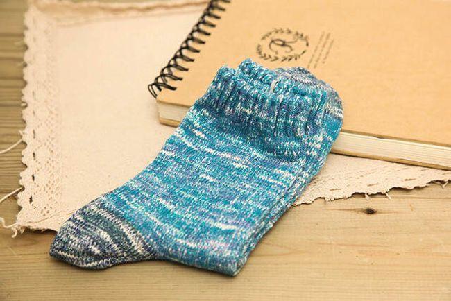 Férfi zokni őszi színekben