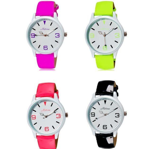 Dámské hodinky v pestrých barvách - 4 provedení 1