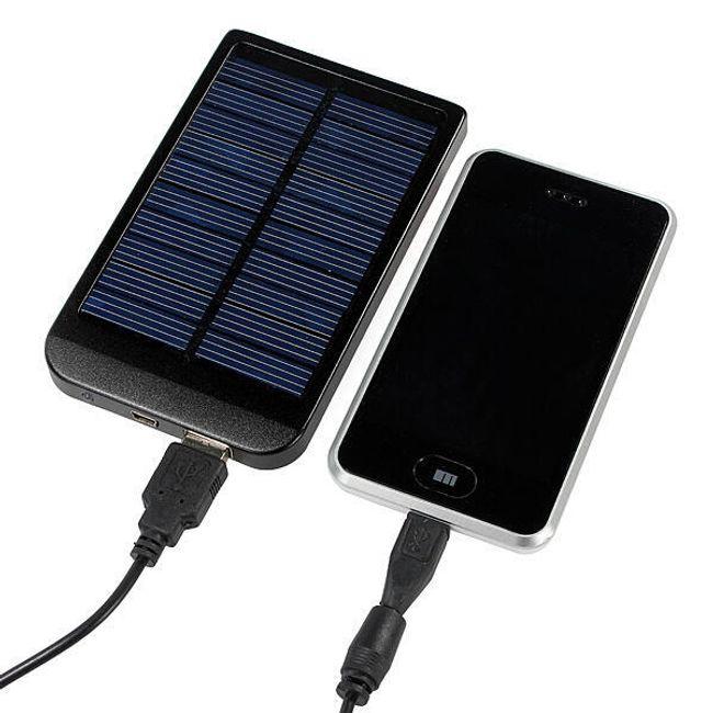 Ładowarka słoneczna 2600mAh do ładowania iPhone, Samsung, HTC i Nokii 1
