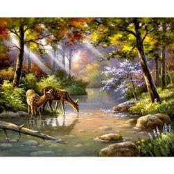 Festés számok alapján - erdei patak