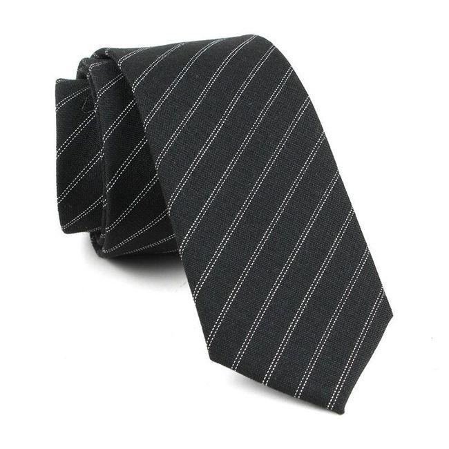Férfi csíkos nyakkendő - 4 szín