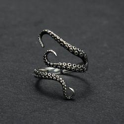 Titanový prsten s motivem chapadel chobotnice