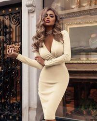 Ženska haljina sa dugačkim rukavima Rebekia