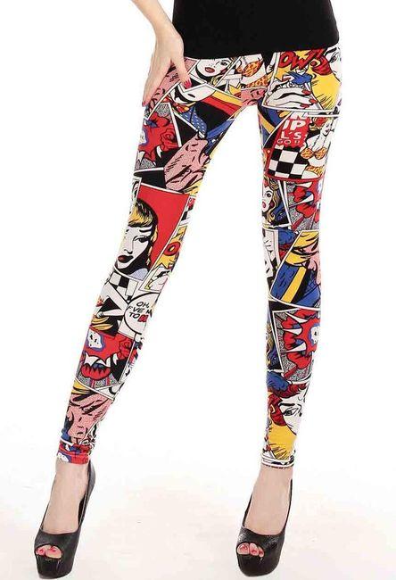 Kolorowe legginsy z komiksem 1