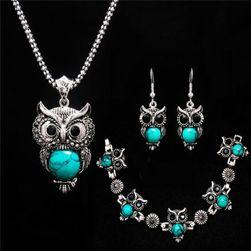 Zestaw biżuterii z sówkami - 3 kolory