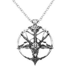 Pentagram satyra koponyával