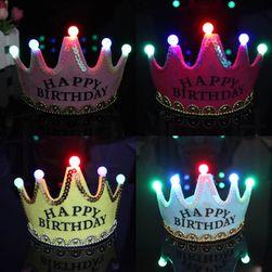 Világító  születésnapi korona - Happy birthday